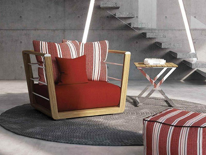 designerski luksusowy fotel ogrodowy embrace atmospheraitaly