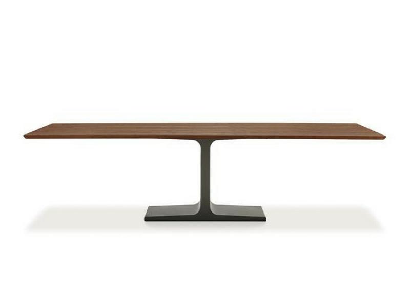 stoły designerskie na jednej podstawie sovet italia palace wood