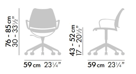 designerskie krzesła do biurka