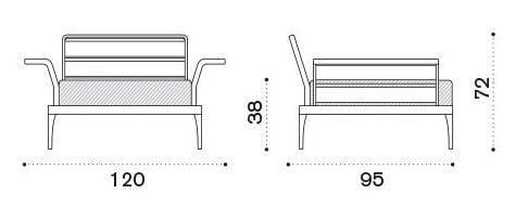 fotel ogrodowy Meridien, Ethimo